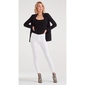 7 For All Mankind Kimmie Crop Jeans In Clean White